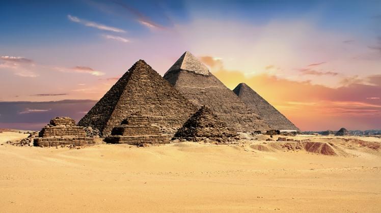 pyramids,