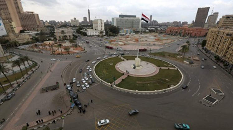 Tahrir Square in downtown Cairo.