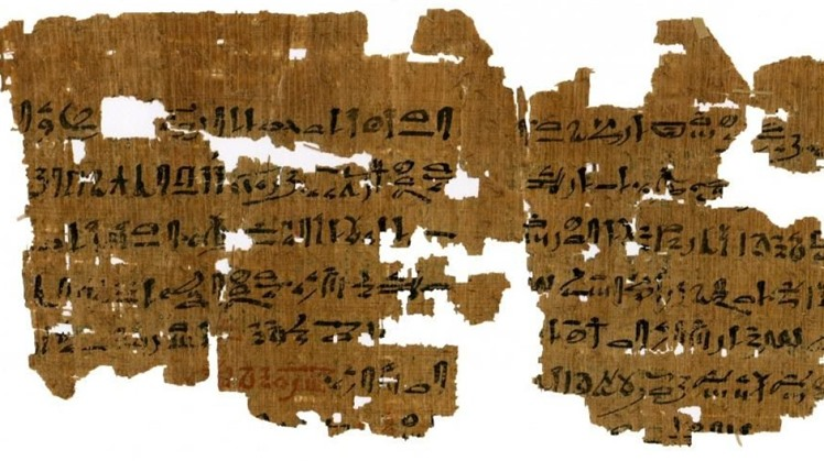 Instructions for a 3,500-year-old pregnancy test. (Photo: Carlsberg Papyrus Collection / University of Copenhagen)