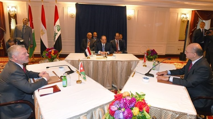 Egyptian President Abdel Fatah al Sisi, King of Jordan Abdullah and the Iraqi President Barham Salih.