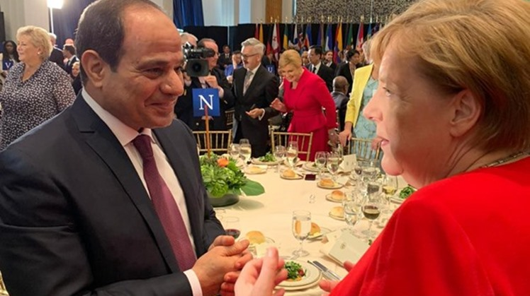 Egyptian President Abdel Fatah al Sisi took part in a dinner banquet held on Tuesday on the sidelines of the United Nation General Assembly.
