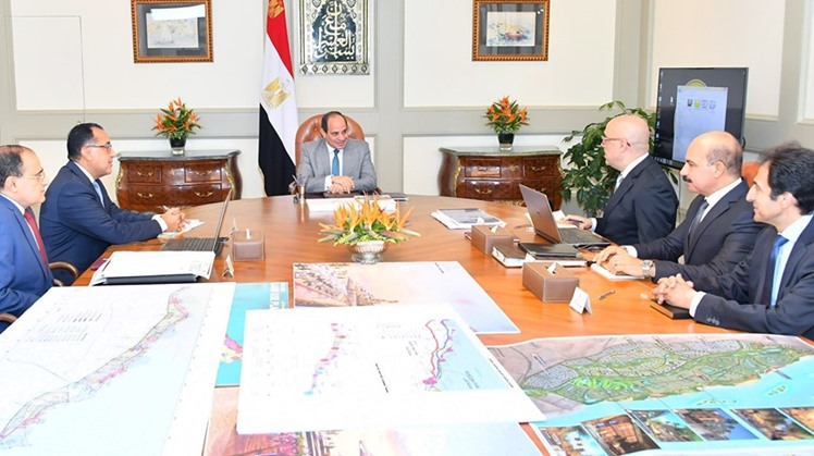 gypt's President Abdel Fattah al Sisi held a meeting on Saturday with the prime minister and the minister of housing, in which they discussed a number of housing projects and new urban communities being constructed nationwide, including Upper Egypt's new