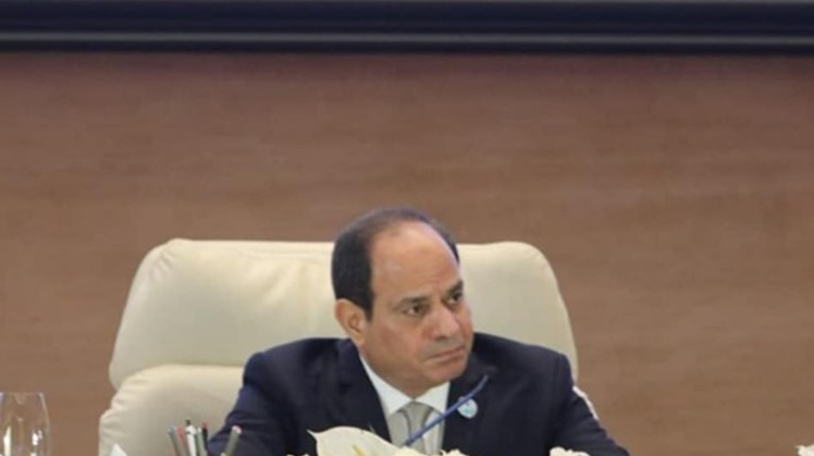 Egypt's President Abdel Fatah al-Sisi held a meeting on Monday with Head of the International Fund for Agricultural Development (IFAD) Gilbert Houngbo, Presidency spokesperson Bassam Rady stated
