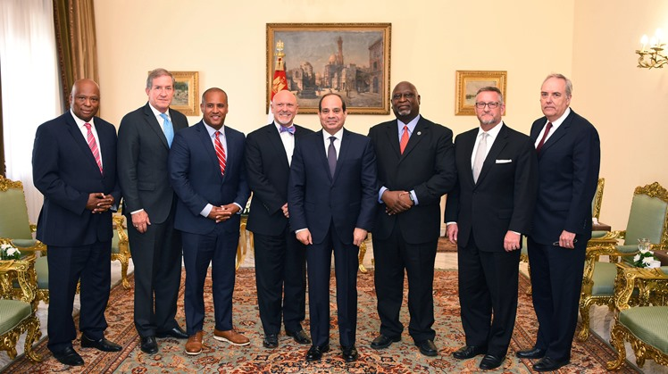 Egypt's President Abdel Fattah al-Sisi received on Wednesday a US delegation of senators and representatives from South Carolina, according to Spokesman of the Presidency Ambassador Bassam Rady.