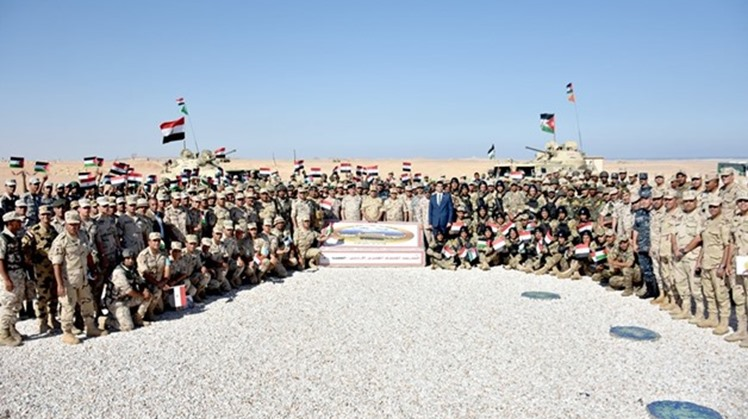 As a part of Egypt's efforts to enhance and upgrade the Egyptian military forces' qualifications, the ground, naval, air forces have participated in series of military exercises with military counterparts from Jordan, Russia and Pakistan.