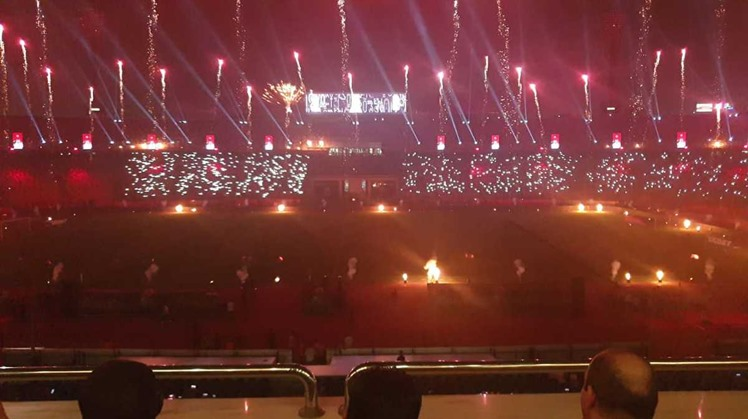 CAF officials hails the Egyptian government for organizing a wonderful opening ceremony that amazed all the attendees.