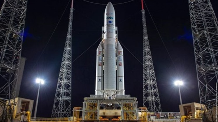Egypt's first telecommunications satellite, Ariane 5 with TIBA-1 and Inmarsat GX5, will be launched on Monday at 11 p.m. following a delay of two days for technical issues.