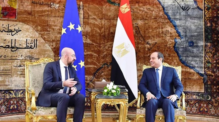 President Abdel Fatah al-Sisi and President of the European Council Charles Michel agreed Sunday on the importance of a comprehensive political settlement in Libya, planning to enhance the consultation channels between Egypt and the EU Council.