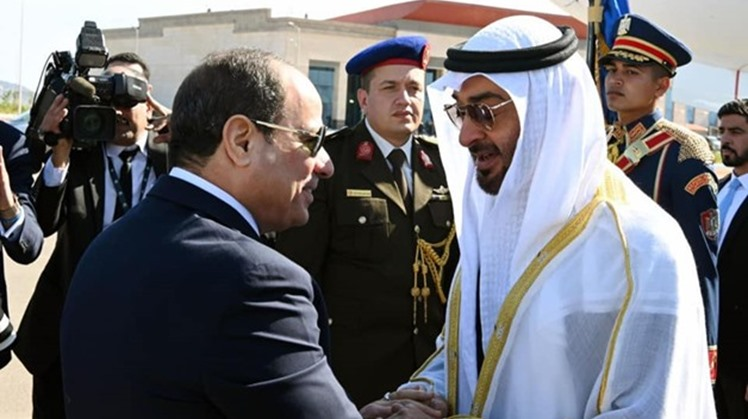 Egypt's President Abdel Fattah al-Sisi, along with Abu Dhabi Crown Prince Mohamed bin Zayed have both arrived in South Sinai's Sharm El-Sheikh to attend the opening of the camel racing.
