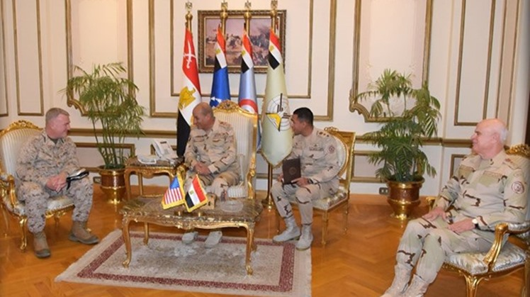 United States Central Command chief Kenneth McKenzie affirmed keenness to back partnership relations and coordination between the armed forces of Egypt and the US