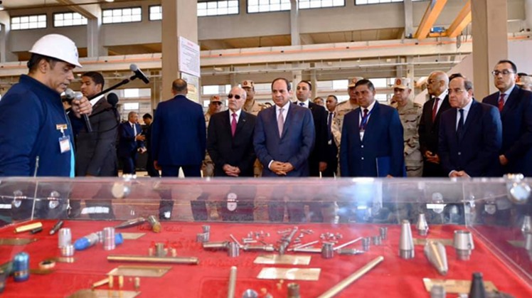 Egypt's President Abdel-Fattah El-Sisi attended the inauguration of Military Factory 300