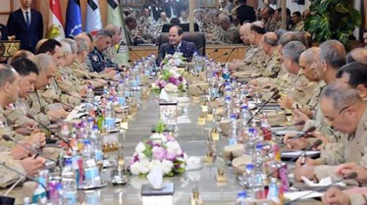 Egypt's President Abdel Fatah al-Sisi was briefed on the security situation, security measures and plans implemented by the Armed Forces to hunt terrorist elements down, especially in North Sinai.
