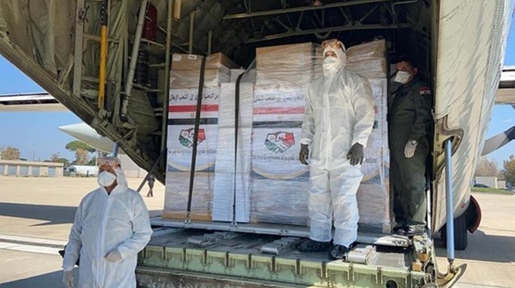 The Sudanese government thanked Monday the Egyptian government as the latter sent medical supplies to the Sudanese capital of Khartoum to aid the Sudanese people amid the current pandemic.