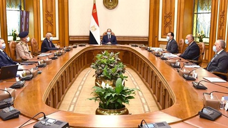 The National Security Council, led by President Abdel Fatah al-Sisi, held a meeting on Tuesday to review the developments in the Libyan situation and the Renaissance Dam.