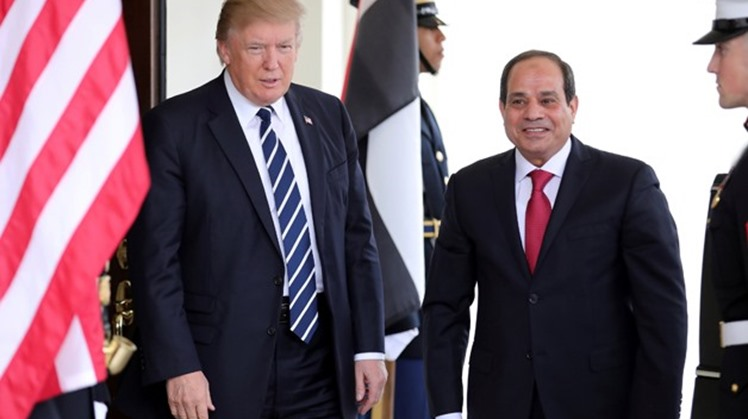 Egypt's President Abdel Fatah al-Sisi discussed the latest developments on Libya with American Counterpart, Donald Trump during a phone call, Wednesday.