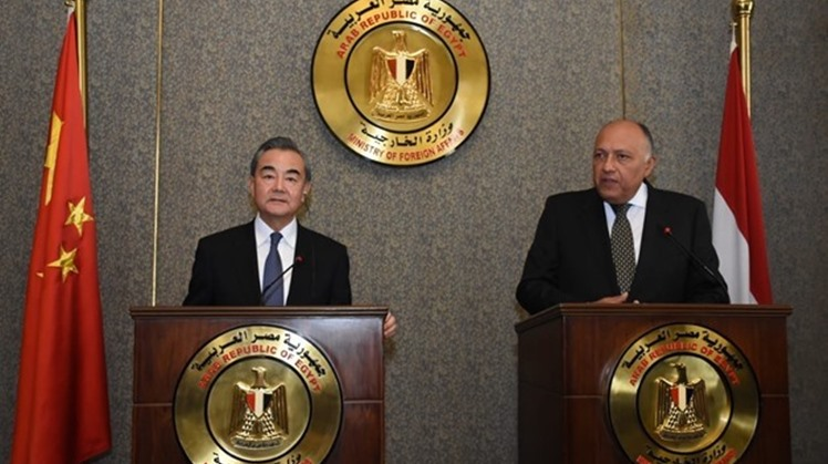Egypt's Foreign Minister Sameh Shoukry discussed regional and international issues of mutual concern with his Chinese counterpart, Wang Yi.