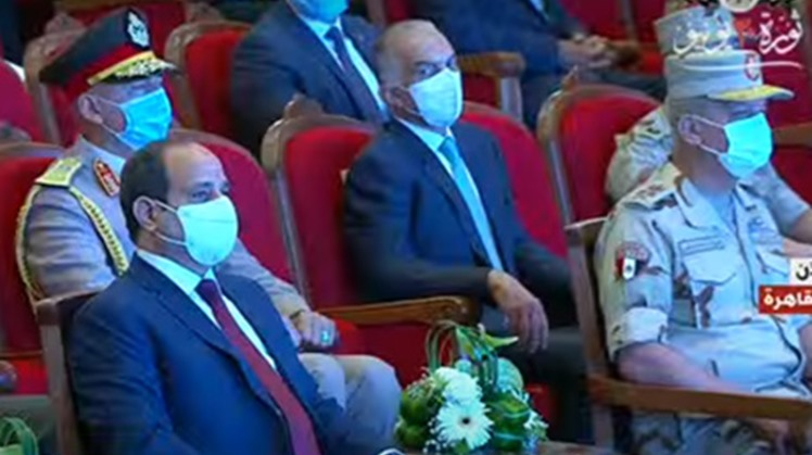 Egypt's President Abdel-Fattah El-Sisi inaugurated on Monday a number of national projects