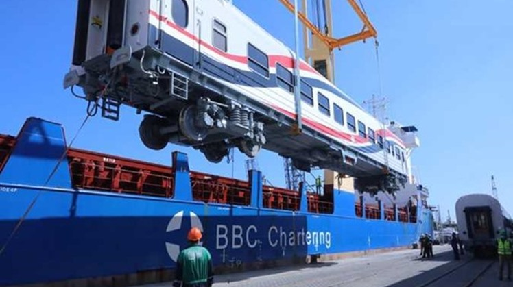 The second batch of the Russian railway vehicles are expected to dock at Alexandria Port within the coming days, carrying eight vehicles shipped by sea.