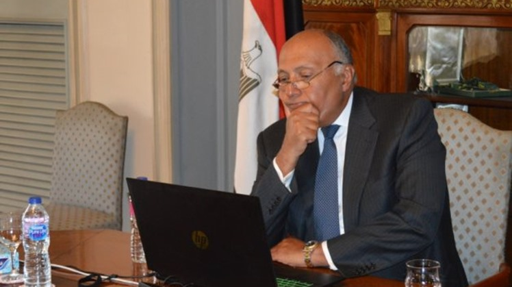Egypt's Minister of Foreign Affairs Sameh Shoukry discussed with his British counterpart Dominic Raab, Tuesday the latest development regarding GERD