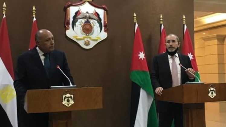 Jordanian Foreign Minister Ayman Safadi hailed Egypt's stance rejecting unilateral measures on the Grand Ethiopian Renaissance Dam, saying that Egypt's water security is part of the Arab strategic security.