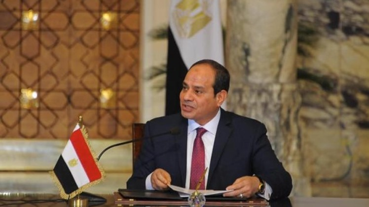 Egypt's President Abdel Fattah El Sisi arrived Tuesday morning to attend the inauguration ceremony of the industrial city in El Roubiki.