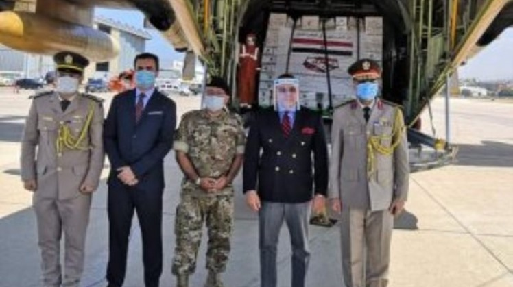 Two Egyptian flights arrived at Rafiq el Hariri Airport carrying aid to Lebanon Monday.