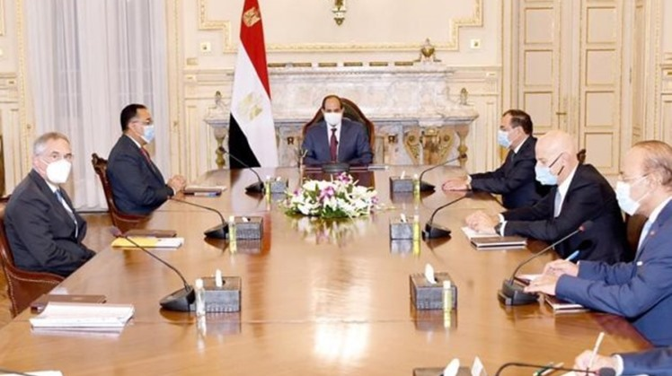 Egypt's President Abdel Fattah El Sisi voiced his support to the expansion of investment activities of Italian multinational oil and gas company, Eni