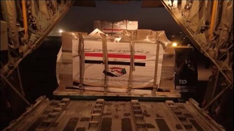 As Sudan has been hit by flash floods as a result of torrential rains, Egypt sent two military aircraft carrying foodstuffs, medical supplies and waterproof tents on Sunday for Khartoum.