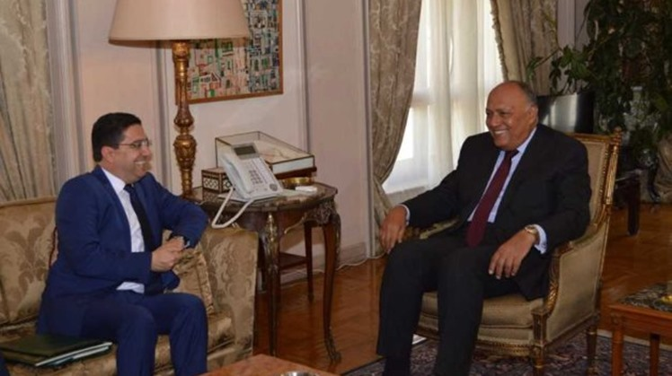 Egyptian Foreign Minister Sameh Shoukry and his Moroccan counterpart, Nasser Bourita, discussed developments in the Libyan issue