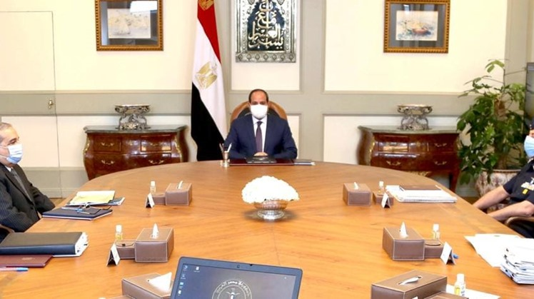 """Egyptian President Abdel Fattah El Sisi urged coordination among relevant authorities to execute """"Mostqbal Masr"""" agricultural project in northwestern Egypt in accordance with highest standards."""