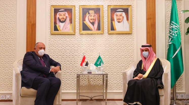 Egypt's FM and his Saudi counterpart, Bin Farhan discuss ties, growing challenges in region