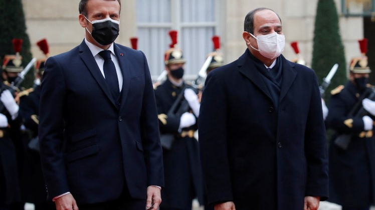 Egypt's President Abdel Fattah al-Sisi held official talks with France's President Emmanuel Macron, during which they discussed regional issues, bilateral relations and military cooperation.