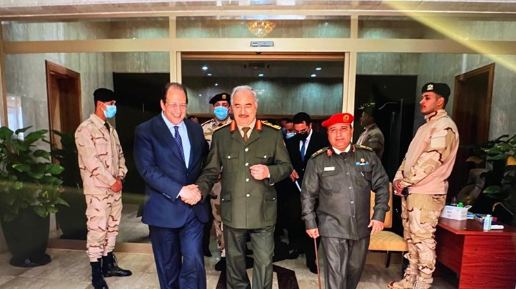 Egypt's intelligence chief holds meeting with Haftar, Aguila Saleh in Benghazi