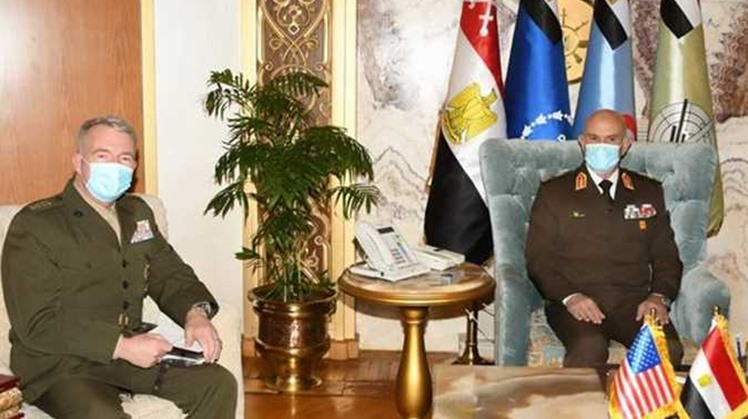 Egyptian army chief of staff, US Central Command discuss cooperation, joint exercise