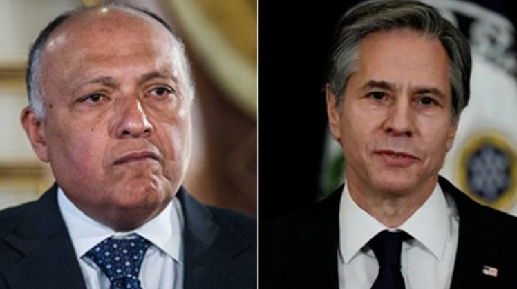 Egypt's Foreign Minister Sameh Shoukry received, on Tuesday, a phone call from US Secretary of State Antony Blinken where they exchanged views on regional issues and ongoing counterterrorism cooperation.