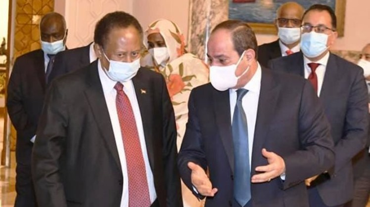 Egypt's president, Sudan's PM urge enhancing coordination to activate international mediation over GERD