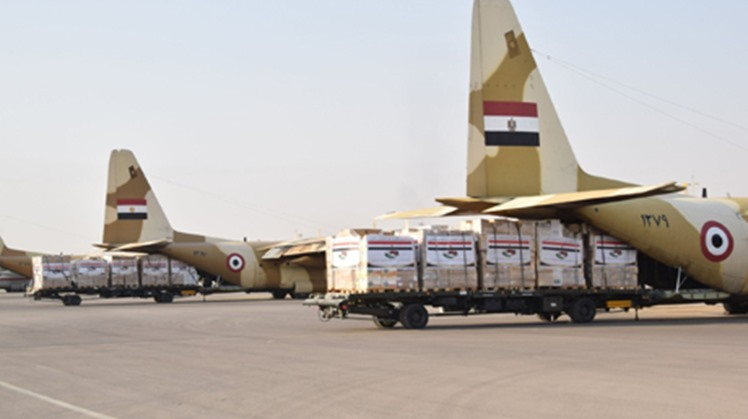 Upon the directives of President Abdel Fatah al-Sisi, Egypt dispatched on Tuesday medical aid and supplies to Libya, the Egyptian armed forces announced.