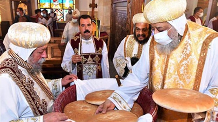 Pope Tawadros II of Alexandria and Patriarch of the See of St. Mark chaired on Sunday the Palm Sunday Mass