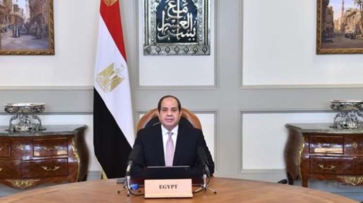 Egypt's President Abdel Fattah El Sisi offered condolences to India for the loss of dozens of its citizens from the coronavirus pandemic, wishing a speedy recovery for all the infected people.