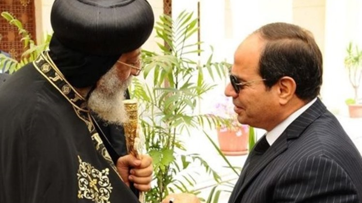 Egypt's Sisi greets Pope Tawadros II marking Coptic Easter