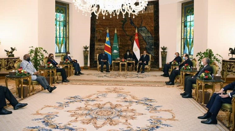 Egypt's Sisi reiterates that Egypt will not accept harm to its water security in a meeting with Congo's President