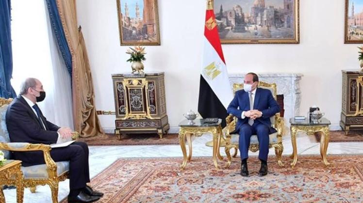 Safadi asserts to Sisi Jordan's keenness to benefit from Egyptian developmental efforts