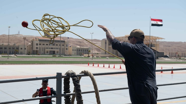 USS Monterey first US Warship to visit Egypt's Berenice Naval Base