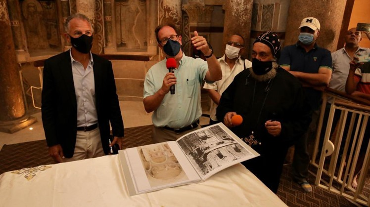 US Amb. to Egypt visits White Monastery in Sohag
