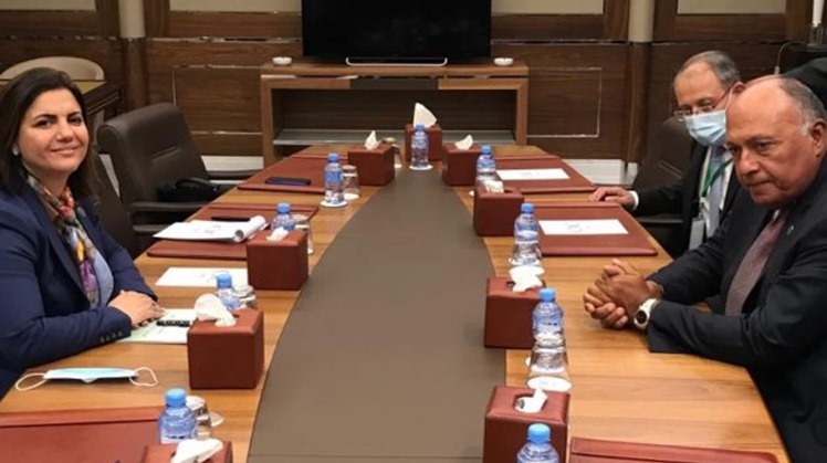 Egyptian, Libyan FMs review enchanting bilateral cooperation on sidelines of Algeria's meeting