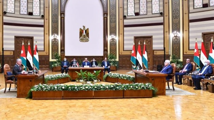 Final statement of Egyptian-Jordanian-Palestinian summit assert necessity of respecting rights of Sheikh Jarrah's families in their homes