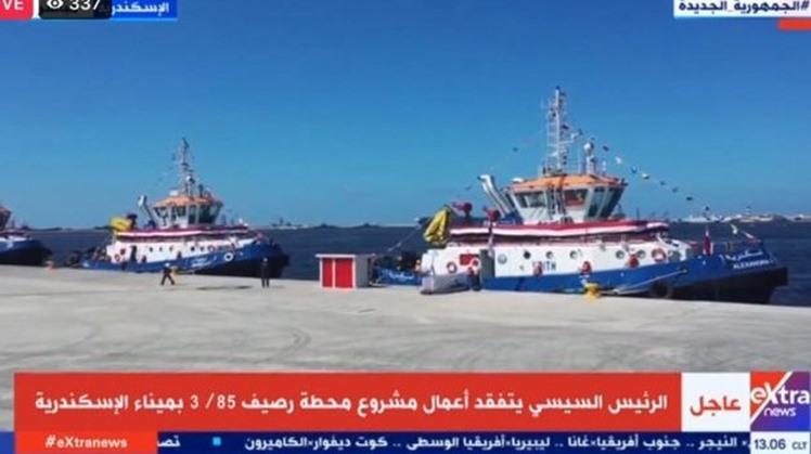 Egypt's Sisi inspects historic hall of Alexandria Port