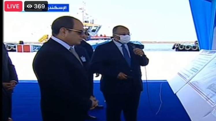 Egypt's president attends briefing on seaports development
