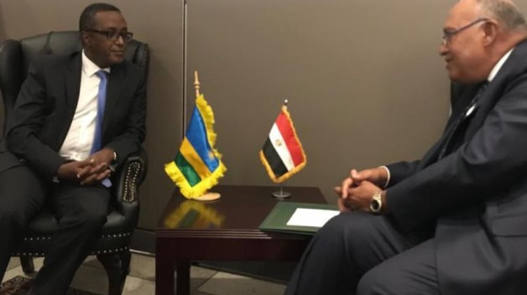 Egypt's FM Sameh Shoukry meets Indian, Rwandan counterparts on the sidelines of UNGA 76