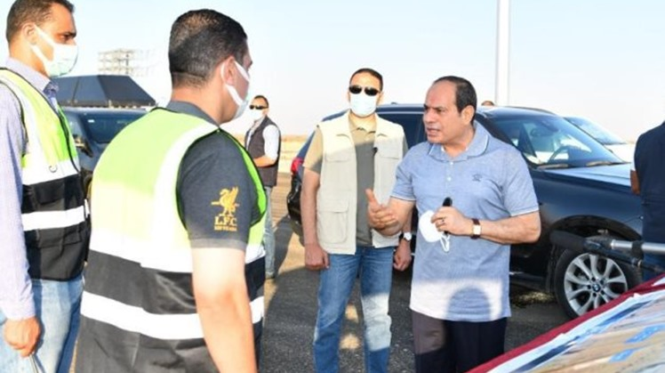 Sisi attends opening of development projects in Sinai